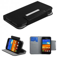 Samsung Epic 4G Touch (Galaxy S2) Black Premium Book-Style Wallet with Card Slot