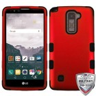 LG LG G Stylo 2 Plus Titanium Red/Black Hybrid Phone Protector Cover