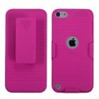 Apple iPod Touch (5th Generation) Rubberized Hot Pink Hybrid Holster