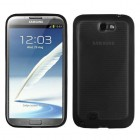 Samsung Galaxy Note 2 Horizontal Stripes Transparent Smoke/Solid BlackGummy Cover