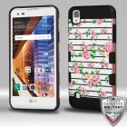 Pink Fresh Roses(Rose Gold)/Black Brushed Hybrid Protector Cover [Military-Grade Certified]