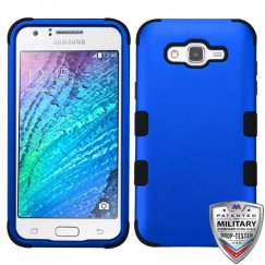 Samsung Galaxy J7 Titanium Dark Blue/Black Hybrid Case