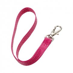 (5PCS) Hot Pink Leather Hand Wrist Lanyard (Metal Lobster Clip) (7.5inch)