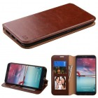 ZTE Grand X Max 2 Brown Wallet(with Tray)