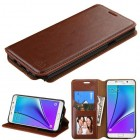 Samsung Galaxy Note 5 Brown Wallet(with Tray)