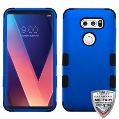 LG V30 Titanium Dark Blue/Black Hybrid Case Military Grade