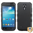 Samsung Galaxy S4 mini Rubberized Black/Black Hybrid Phone Protector Cover