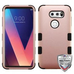 LG V30 Rose Gold/Black Hybrid Case Military Grade