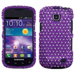 Samsung Illusion SCH-i110 Dots(Purple/white) Diamante Case