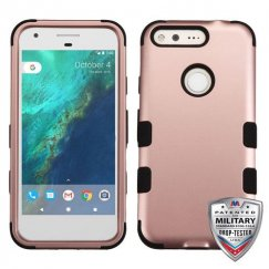 Google Pixel XL Rose Gold/Black Hybrid Case - Military Grade