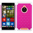 Nokia Lumia 830 Hot Pink/Solid White FullStar Protector Cover