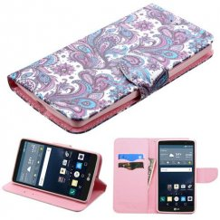 LG G Stylo Purple European Flowers Wallet