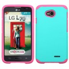 LG Optimus L70 Teal Green/Hot Pink Astronoot Case