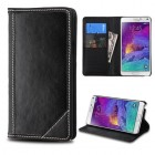 Samsung Galaxy Note 4 Black Genuine Leather Wallet