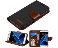 Black/Brown TPU MyJacket wallet (with card slot)(GE022) -NP