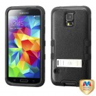 Samsung Galaxy S5 Natural Black/Black Hybrid Phone Protector Cover (with Stand)