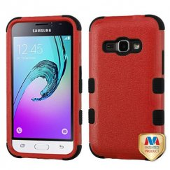 Samsung Galaxy J1 Natural Red/Black Hybrid Case