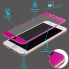 Apple iPhone 6/6s Plus 3D Curved Edge Titanium Alloy Tempered Glass Screen Protector - Hot Pink
