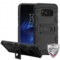 Samsung Galaxy S8 Plus Black/Black Storm Tank Hybrid Case Military Grade