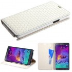 Samsung Galaxy Note 4 Off-White Weave Texture Classic Business Wallet