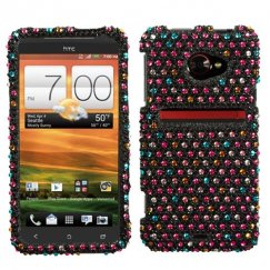 HTC EVO 4G LTE Sprinkle Dots Diamante Case