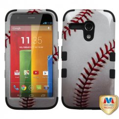 Motorola Moto G Baseball-Sports Collection/Black Hybrid Case