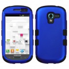 Samsung Galaxy Exhibit Titanium Dark Blue/Black Hybrid Phone Protector Cover