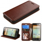 Alcatel One Touch Elevate Brown Wallet with Tray