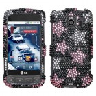 LG Optimus S Falling Stars Diamante Case