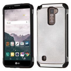 LG LG G Stylo 2 Plus Silver Dots Silver Plating/Black Astronoot Case