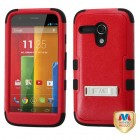 Motorola Moto G Natural Red/Black Hybrid Phone Protector Cover (with Stand)