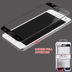 Samsung Galaxy J7 Full Coverage Tempered Glass Screen Protector/Black