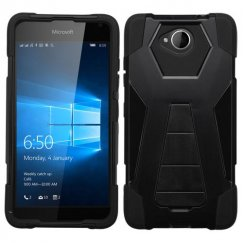 Nokia Lumia 650 Black Inverse Advanced Armor Stand Case