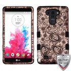 LG G Vista Black Four-Leaf Clover (2D Rose Gold)/Black Hybrid Phone Case - Military Grade