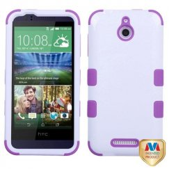 HTC Desire 510 Ivory White/Electric Purple Hybrid Case