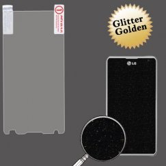 LG Spirit 4G Glitter LCD Screen Protector/Golden