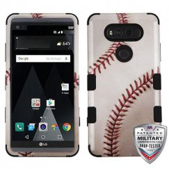 LG V20 Baseball-Sports Collection/Black Hybrid Case - Military Grade