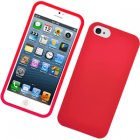 Apple iPhone 5 Rubberized Snap On Cover, Red