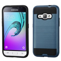 Samsung Galaxy J1 Ink Blue/Black Brushed Hybrid Case