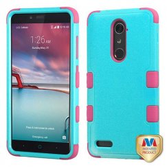 ZTE Grand X Max 2 Natural Teal Green/Electric Pink Hybrid Case