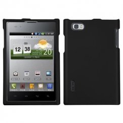 LG Intuition Black Case - Rubberized