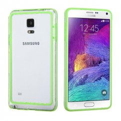 Samsung Galaxy Note 4 Apple Green/Transparent Clear Case