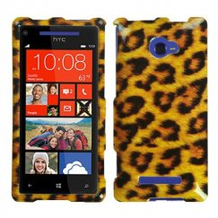 HTC Windows Phone 8x Leopard Skin Case
