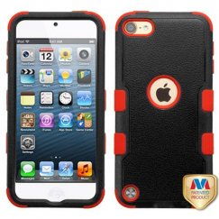 Apple iPod Touch (6th Generation) Natural Black/Red Hybrid Case
