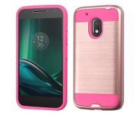 Rose Gold/Hot Pink Brushed Hybrid Protector Cover