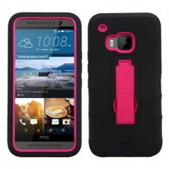 HTC One M9 Hot Pink/Black Symbiosis Stand Case