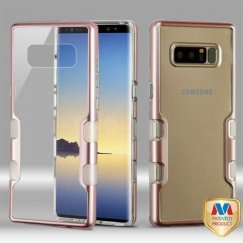 Samsung Galaxy Note 8 Metallic Rose Gold/Transparent Clear Panoview Hybrid Case
