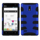 LG Optimus L9 Titanium Dark Blue/Black Fishbone Case
