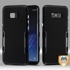 Samsung Galaxy S8 Metallic Black/Rubberized Black Panoview Hybrid Case