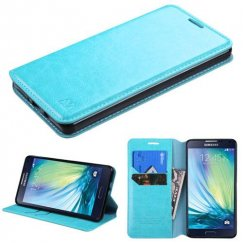 Samsung Galaxy A7 Blue Wallet with Tray